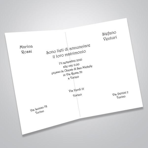 Partecipazioni Matrimonio Per Email.Partecipazioni Matrimonio Sposini Bomboniere Solidali Ai Bi