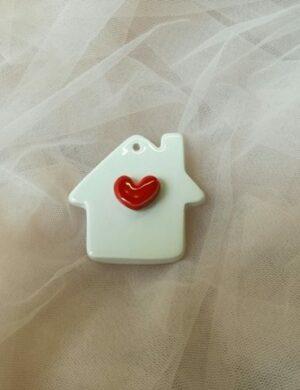 casetta cuore ceramica