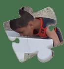Bomboniera Sostegno a Distanza Puzzle