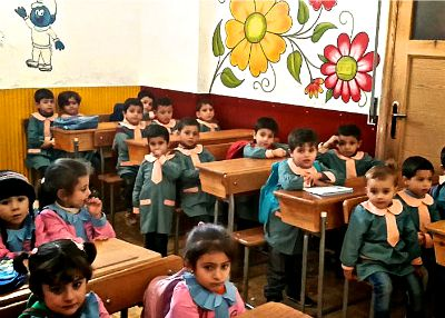 Bambini scuola siria