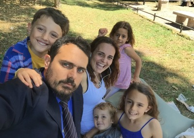 De Palo con la famiglia