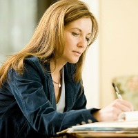 Woman-writing 200