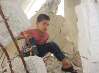 bombardamenti siria non lasciamoli soli, i bambini