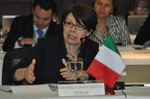 Nella foto: Daniela Bacchetta, per la delegazione italiana.