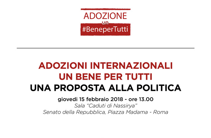 adozione internazionale, conferenza al senato per chiedere un bonus da 10mila euro per ogni bambino
