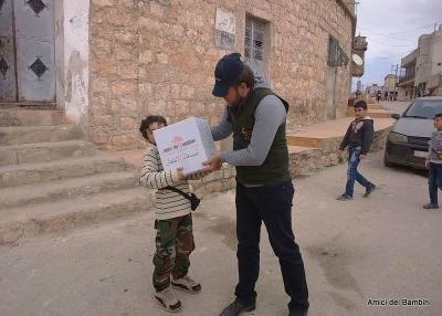 distribuzione razioni alimentari siria