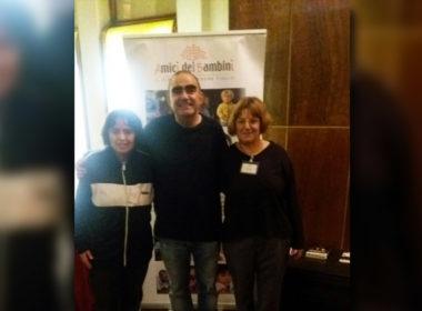 AiBi nello stand del Teatro Nuovo di Milano con Elio e 'Spalmalot'