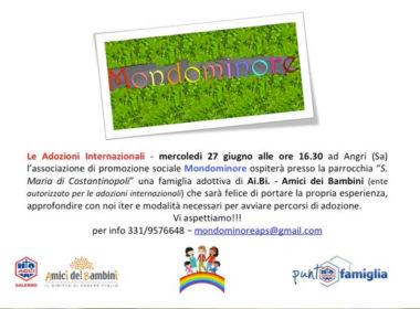 angri (sa): dal 27 giugno apre uno Spazio Famiglia di Ai.Bi. dedicato all'adozione