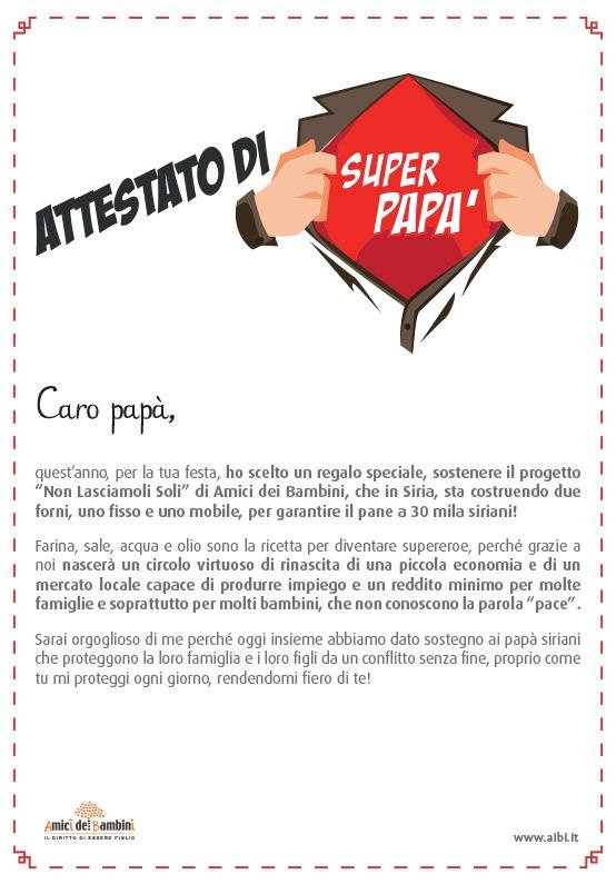 Pergamena Solidale Festa del Papà