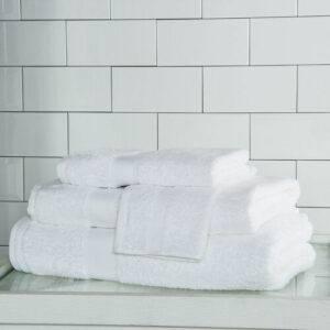 FRETTE  Tris Telo Bagno e Asciugamani Bianco