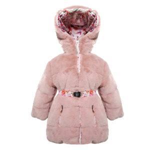 BRACCIANI PIUME – MANUDIECI Cappotto  Rosa Reversibile 3/4 tg. 6 mesi